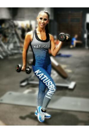 Fitnesz hosszúnadrág - KATUSKÉK pöttyös