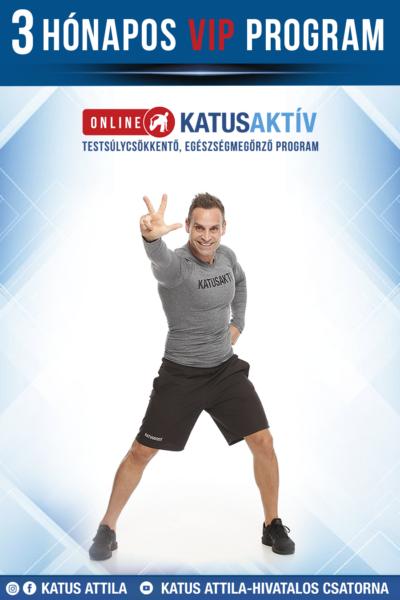 ONLINE KATUSAKTÍV 3 hónapos (12 hetes) VIP program