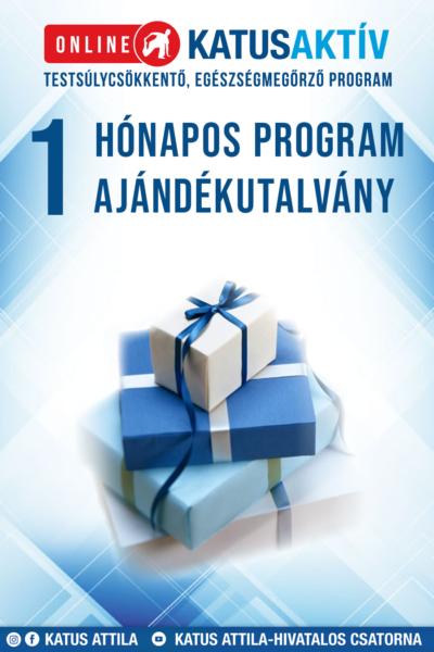 Ajándékutalvány ONLINE KATUSAKTÍV 1 HÓNAPOS (4 hetes) PROGRAM