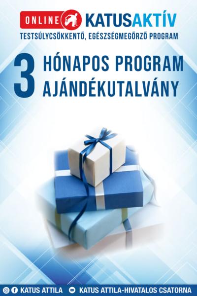 Ajándékutalvány ONLINE KATUSAKTÍV 3 hónapos (12 hetes) program AJÁNDÉKCSOMAGGAL