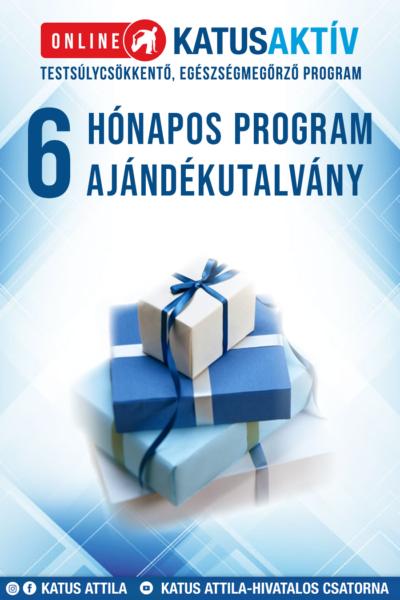 Ajándékutalvány ONLINE KATUSAKTÍV 6 HÓNAPOS (24 hetes) PROGRAM