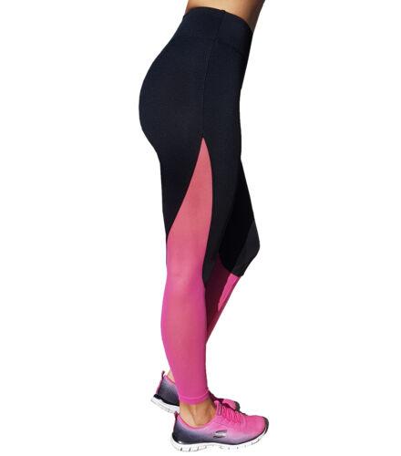 Fekete pink neccbetétes fitnesz nadrág