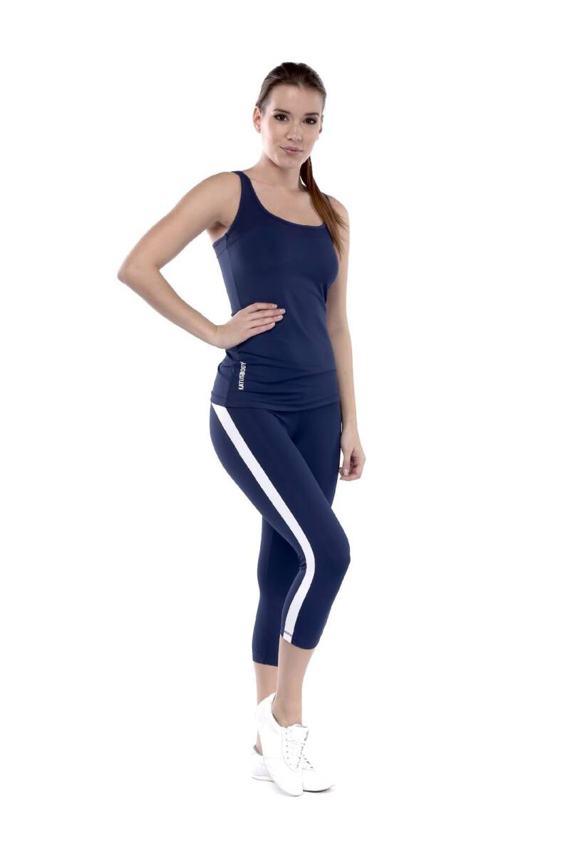 49b89254c1 Capri fitness nadrág, sötétkék, fehér csíkkal, AKCIÓS